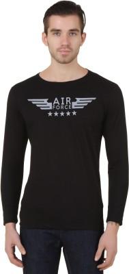 Konners Graphic Print Men's Round Neck Black T-Shirt