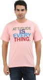 UV2 Printed Men's Round Neck Pink T-Shir...
