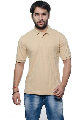 AMX Solid Men's Henley Beige T-Shirt