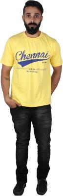 Pickled Merchandise Graphic Print Men's Round Neck Yellow T-Shirt