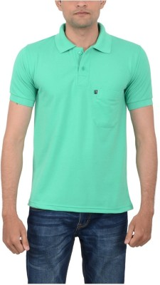 JAPROZ Solid Men,s Polo Neck Light Green T-Shirt