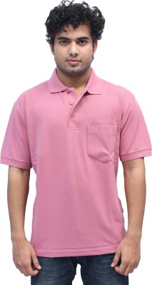 Romano Solid Men's Polo Pink T-Shirt