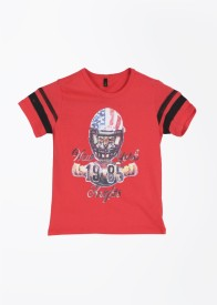 United Colors of Benetton Boys Printed(Red)