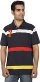 Red Line Striped Men's Polo Neck Multico...