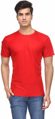 Rico Sordi Solid Men's Round Neck Red T-Shirt