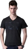WROGN Printed Men's V-neck Multicolor T-...