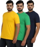 TT Solid Men's Round Neck Multicolor T-S...