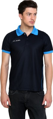 Dida Sportswear Solid Men's Polo Blue, Black T-Shirt