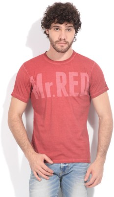 Pepe Printed Men's Round Neck Red T-Shirt