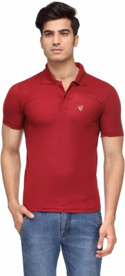 Rico Sordi Solid Men's Polo Neck Maroon T-Shirt