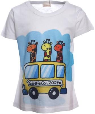 Sheena Printed Girl's Round Neck T-Shirt