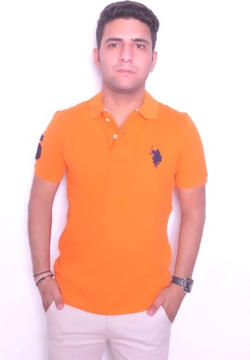 Jura Polo Solid Men's Polo Neck Orange T-Shirt