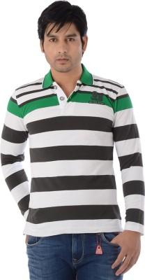 Lawman Striped Men's Polo Neck Multicolor T-Shirt