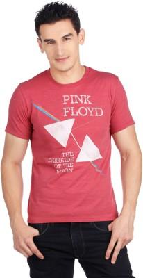 Pink Floyd Printed Men's Round Neck Red T-Shirt