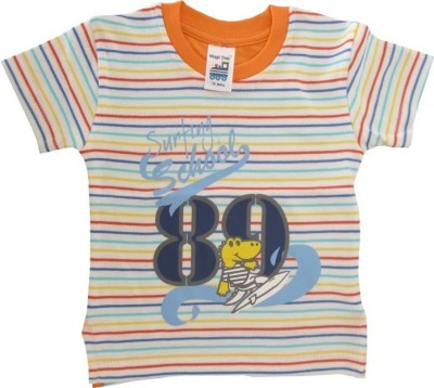 Magic Train Printed Baby Boy,s, Baby Girl's Round Neck Multicolor T-Shirt