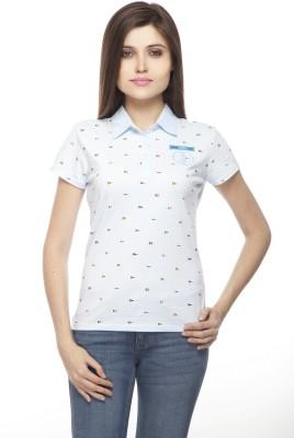 Flevio Printed Women's Polo Neck T-Shirt