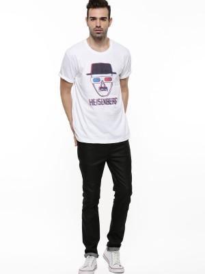 Rebel Co Printed Men's Round Neck T-Shirt
