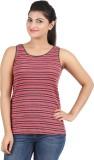 Hoodz Striped Women's Round Neck Orange ...