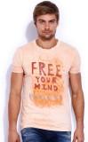 Rookies Printed Men's Round Neck Orange ...