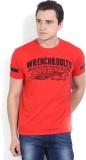 Wrangler Printed Men's Round Neck Red T-...