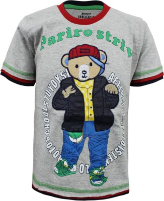 Kothari Printed Boy's Round Neck T-Shirt