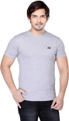Always & Forever Solid Men's Round Neck Grey T-Shirt