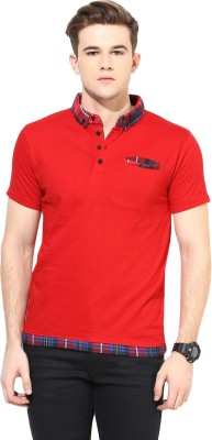 Benoit Solid Men's Polo Red T-Shirt