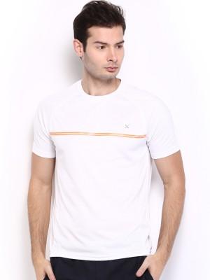 HRX Solid Men's Round Neck White T-Shirt