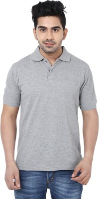 Crocks Club Solid Men's Polo Neck Grey T-Shirt