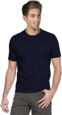 Blackburne Inc Solid Men's Round Neck Dark Blue T-Shirt