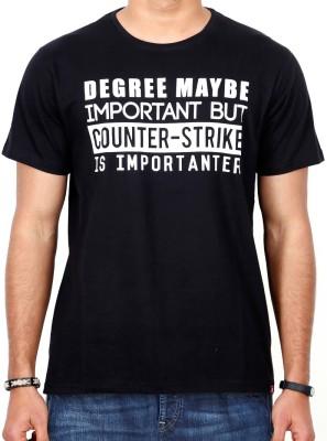 ComicSense Printed Men,s, Women's Round Neck Black T-Shirt