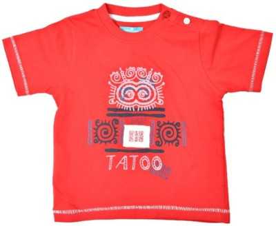 JusCubs Printed Boys Round Neck Red T-Shirt