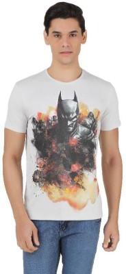 Batman Printed Men,s Round Neck Grey T-Shirt