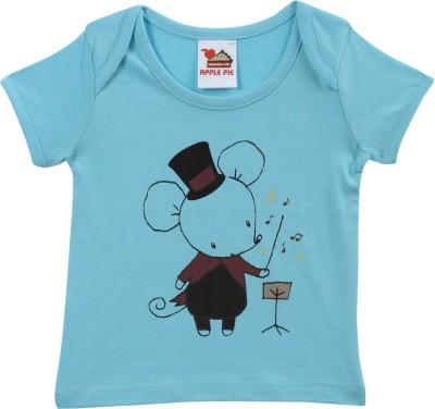 Apple Pie Graphic Print Baby Boy's Round Neck T-Shirt