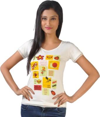 No Code Printed Women's Round Neck T-Shirt