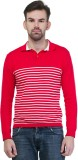 Kalt Striped Men's Polo Neck Red, White ...