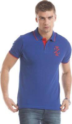 Izod Solid Men's Polo Neck Blue T-Shirt