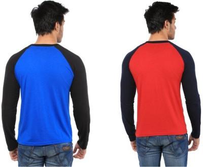 Five Stone Solid Men's Round Neck Multicolor T-Shirt