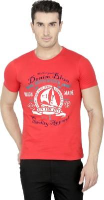 San Vertino Printed Men's Round Neck Red T-Shirt