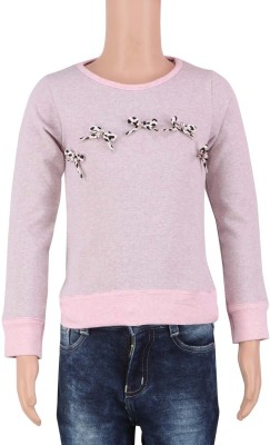 STOP by Shoppers Stop Printed Girl's Round Neck Pink T-Shirt