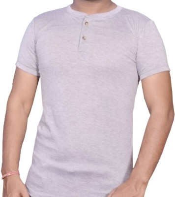 Venus collection Solid Men's Henley Grey T-Shirt