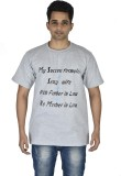 Leep Printed Men's Round Neck Grey T-Shi...
