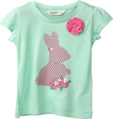 Beebay Printed Baby Girl's Round Neck T-Shirt