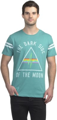 Pink Floyd Printed Men's Round Neck Green T-Shirt