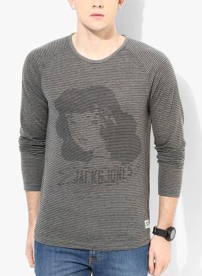 Jack & Jones Striped Men's Round Neck T-Shirt