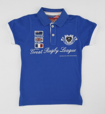 Noddy Printed Boy's Flap Collar Neck T-Shirt