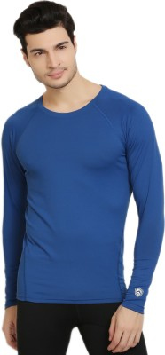 Armr Solid Men's Round Neck Blue T-Shirt