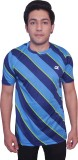 Dyed Colors Checkered Men's Round Neck B...