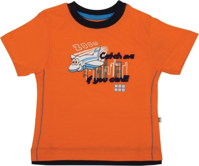 Mee Mee Solid Baby Boy's Round Neck Orange T-Shirt