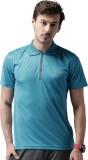 2Go Solid Men's Polo Neck Green T-Shirt